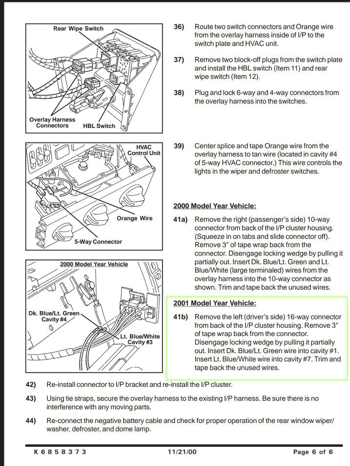 2001 hardtop wiring harness jeep wrangler tj forum how to install jeep hardtop wiring harness at edmiracle.co