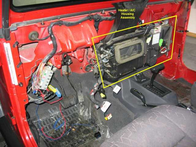 how to replace the heater core on a jeep wrangler tj jeep 1998 jeep wrangler heater wiring diagram at fashall.co