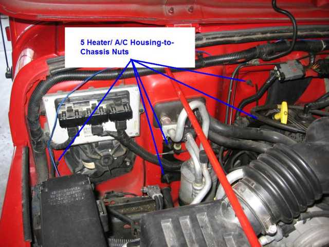 how to replace the heater core on a jeep wrangler tj jeep 1998 jeep wrangler heater wiring diagram at cita.asia
