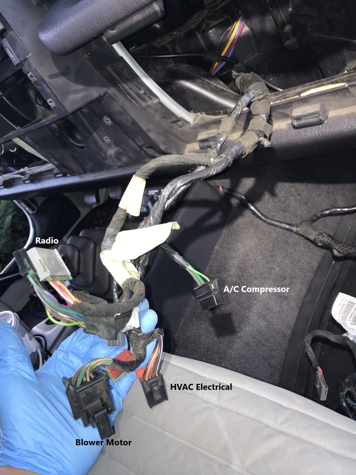 How To Factory Wire Your Tj For A Hardtop Part 1 Dash Harness Push On Wiring Clip This Loom Is Held Into Place By Another Which Easy Pop Out The New What Will Contain All Of