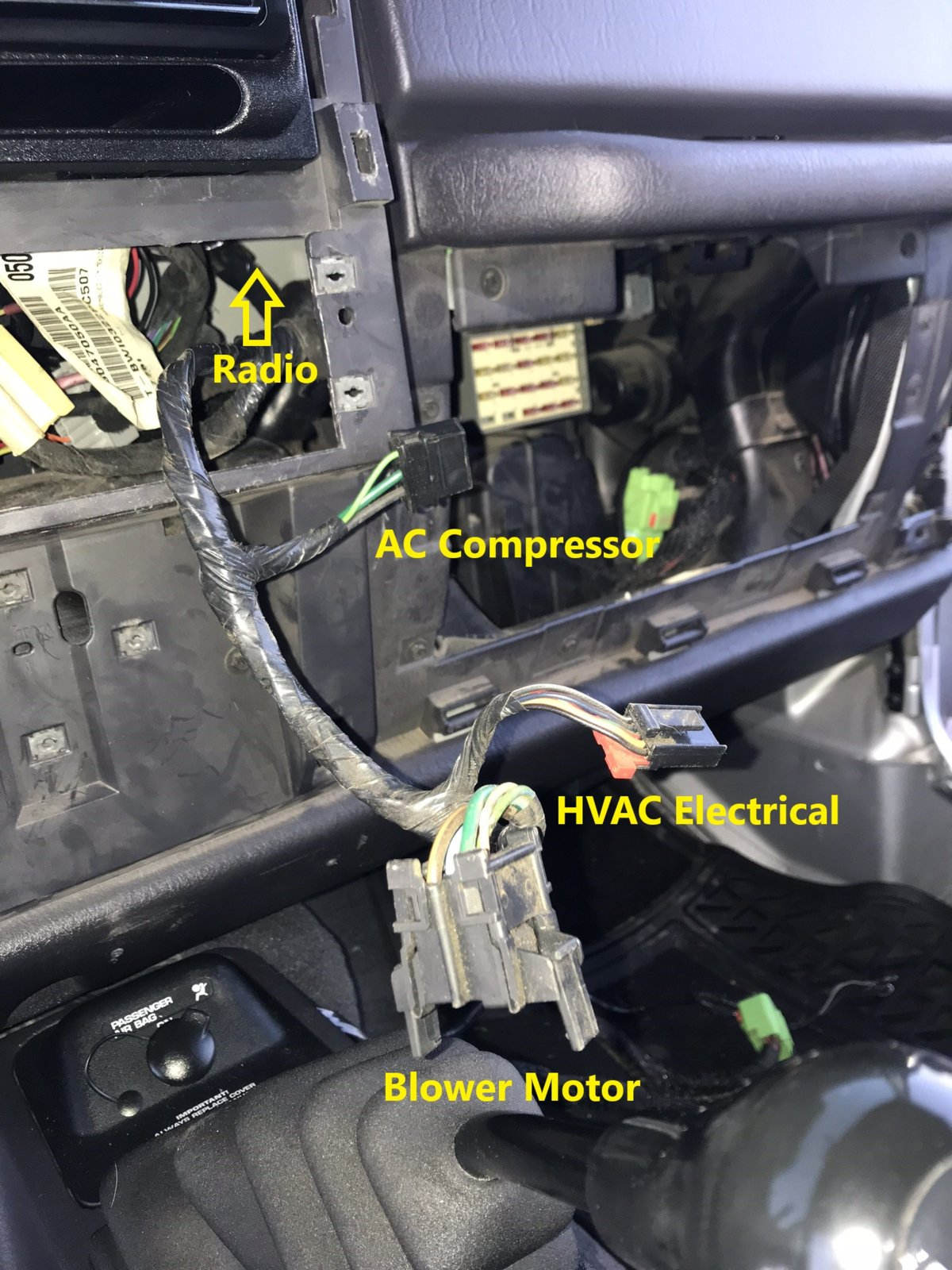 How to Factory Wire your TJ for a Hardtop Part 1 (Dash ... Jeep Wrangler Hardtop Wiring Harness on jeep wrangler trailer wiring, geo tracker wiring harness, jeep grand wagoneer wiring harness, jeep tail light wiring harness, dodge dakota wiring harness, 2001 jeep wiring harness, amc amx wiring harness, 2004 jeep wiring harness, jeep wiring harness diagram, jeep transmission wiring harness, honda cr-v wiring harness, chevy aveo wiring harness, chrysler pacifica wiring harness, hummer h2 wiring harness, jeep wrangler wiring sleeve, mazda rx7 wiring harness, jeep wrangler wiring connector, pontiac bonneville wiring harness, chevy cobalt wiring harness, jeep patriot wiring harness,