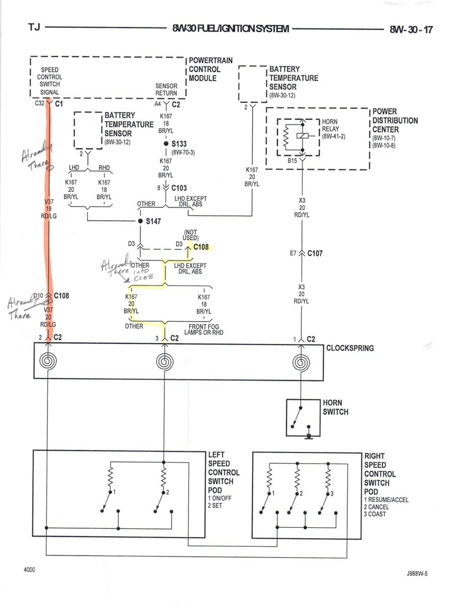 Cruise Control Wiring Diagram Help | Jeep Wrangler TJ Forum | Hvac System Wiring Diagram 1998 Jeep Wrangler |  | Jeep Wrangler TJ Forum