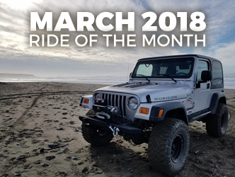 March 2018 Ride of the Month