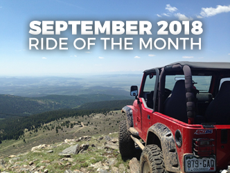 September 2018 Ride of the Month