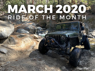 March 2020 Ride of the Month